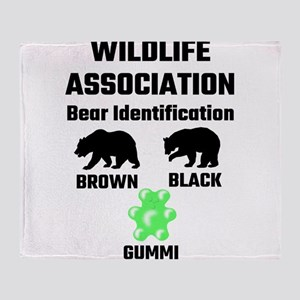 Wildlife Association Bear Identifica Throw Blanket